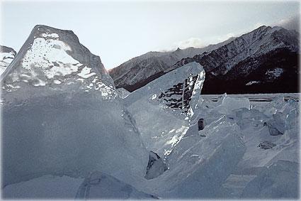 Байкал - скованный морозом