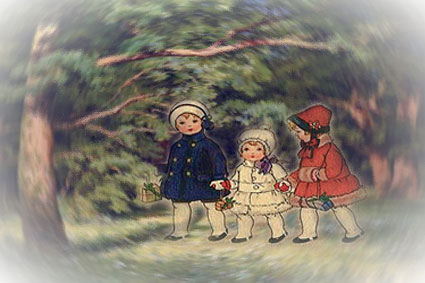 Вместе весело шагать по лесочку